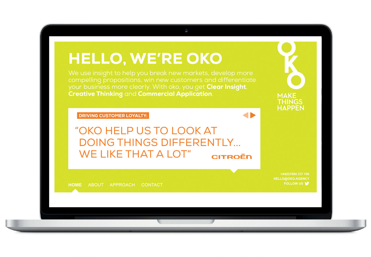 Website Design for insight and innovation agency OKO