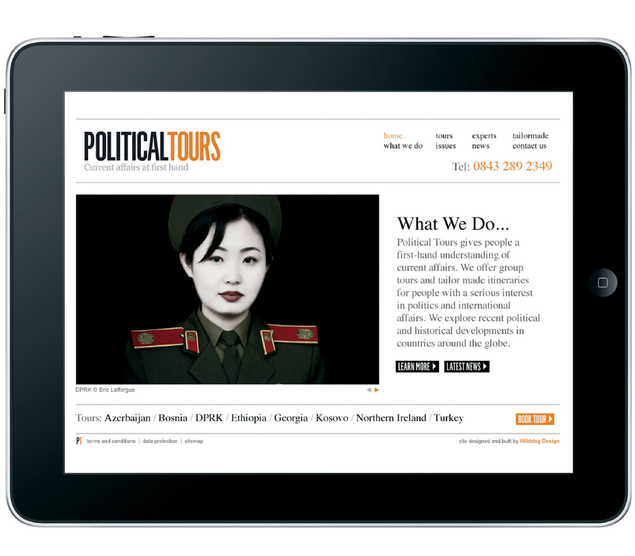 Website Design for Travel Company Political Tours